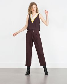 CROSSOVER TROUSERS - View all - Trousers - WOMAN | ZARA Spain