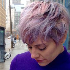 Bubblegum candy hair pastels pastel hair Schwarzkopf pixie cut hairbydavidandco hairbyjamiepotts