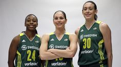Sue Bird, Jewell Loyd, Breanna Stewart