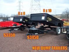 NEW - Carry On Dump Trailers - IN STOCK