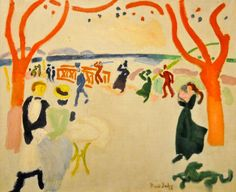 huariqueje:    The Passers-By (Le Passants) - Raoul Dufy 1907   French 1877-1953