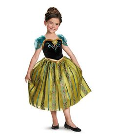 Look what I found on #zulily! Frozen Anna Coronation Deluxe Dress-Up Outfit - Girls #zulilyfinds