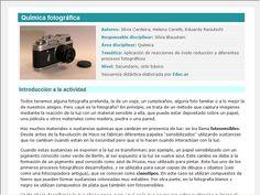 Screenshot de Secuencia Didáctica #15306 - Química fotográfica
