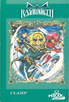 Magic Knight Rayearth 3 Anime Japanese Geek gift by RetroBooksUK Magic Knight Rayearth, Manga Covers, Girls World, Kokoro, Geek Gifts, Magical Girl, Clamp, Geek Stuff, Japanese