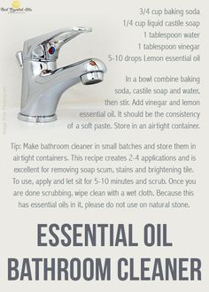 Doterra diy bathroom cleaner recipe soaps doterra - Diy bathroom cleaner essential oils ...