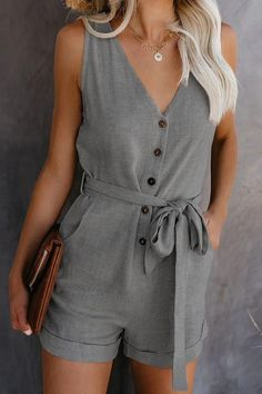 Summer Outfits, Casual Outfits, Cute Outfits, Fashion Outfits, Casual Wear, Style Fashion, Rompers Women, Short Jumpsuits For Women, Overall