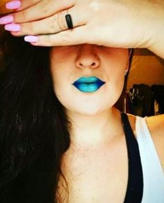 Monday Blues Created by: Irene Brooks Splash liquid lipstick- superstitious