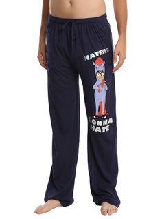 Haters gonna hate // Bobs Burgers Tina Belcher Haters Gonna Hate Guys Pajama Pants