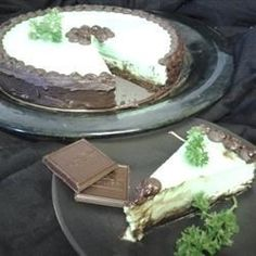 "Chocolate Mint Cheesecake | ""The finished cake was rich, minty, and full of dark chocolate flavor."""