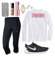 """""""Untitled #64"""" by valerienwashington ❤ liked on Polyvore featuring NIKE, Vineyard Vines, Tory Burch, Sephora Collection, Too Faced Cosmetics, Kate Spade, Other, women's clothing, women's fashion and women"""