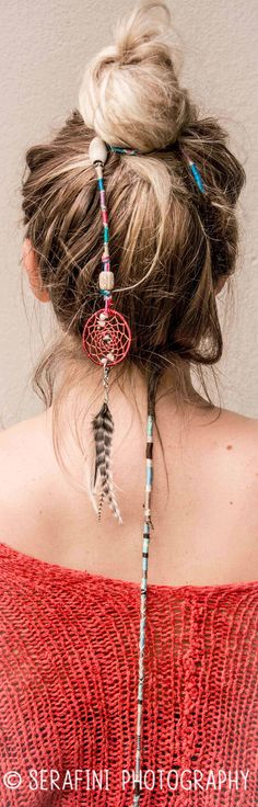 Cotton Hair Wraps with Washable Dream Catchers www.serafiniphotography.wordpress.com