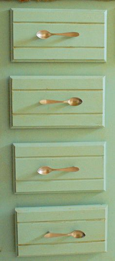 Antique/fancy Spoons For Cabinet Handles. Cheap. Found At Thrift Shop For A