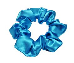 Scrunchies Turquoise Satin Ponytail Holder Free by ScrunchieKing