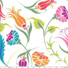 Manufacturer: Michael Miller (DS5028_White) Designer: Patty Young Collection: Grand Bazaar Print Name: Turkish Garden in White