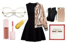 """""""Untitled #57"""" by royalfailure on Polyvore featuring Ted Baker, Sans Souci, WithChic, Kate Spade, Gucci and Puma"""