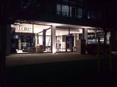 Allure fashion store interior design, black and silver interiour, contemporary design