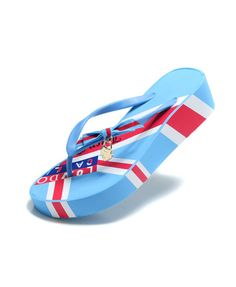 503898b15e3ad Union Jack Print Bow Flip Flop from Chicnova Cute Flip Flops