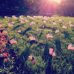 Purdue students set up a 9/11 memorial on the Engineering Mall on the morning of Sept. 11, 2012. Photo by lifeatpurdue
