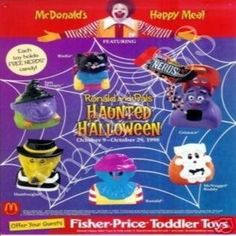 from $2 to 4.25 ea 1998 Happy Meal Toys McDonalds - Haunted Halloween Happy Meal Set - 1998