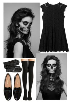 """My Halloween"" by mydailypoly23 ❤ liked on Polyvore featuring moda, AX Paris ve Banana Republic"