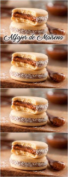 Cookie Recipes, Dessert Recipes, Bakery Packaging, Wonderful Recipe, Homemade Pasta, Latin Food, Macaroons, Diy Food, Yummy Cakes