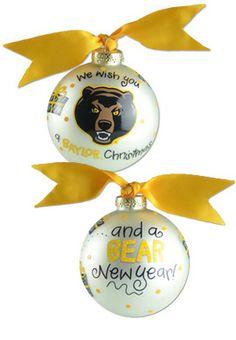 #Baylor University Bears 'We Wish' Christmas Ornament Glass Ball ($22 at Baylor Bookstore)