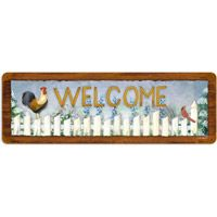 Spring Flowers Country Welcome Sign  http://www.retroplanet.com/PROD/35030