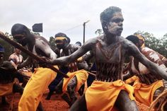 Dance performers at the Garma Festival, August 2014.
