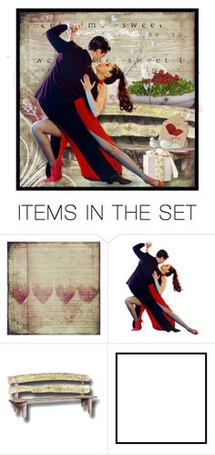 """Two Hearts Dance"" by majezy ❤ liked on Polyvore featuring art"