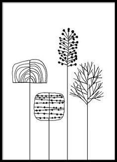 Graphic plants Julisteet ryhmässä Julisteet  / Koot / 30x40 cm @ Desenio AB (3119)