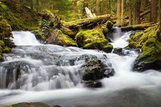 Panther Creek Falls, upstream by Ali Erturk on 500px
