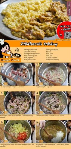 Zöldborsós tokány recept elkészítése videóval Hungarian Cuisine, Hungarian Recipes, Good Foods To Eat, Food To Make, Meat Recipes, Cooking Recipes, Breakfast Time, Easy Cooking, No Cook Meals