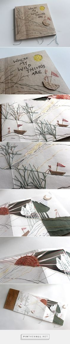 Love this beautiful stitched paper book illustration! Such a lovely tactile keepsake. By Serene Ng.