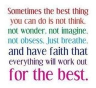 Faith is the substance of things hoped for!  :)