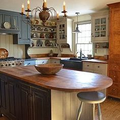 """Boston Kitchen 1 this is a 'Collected Kitchen"""" we did in a great reproduction house in South Boston. We are in the process of doing their bathrooms now."""