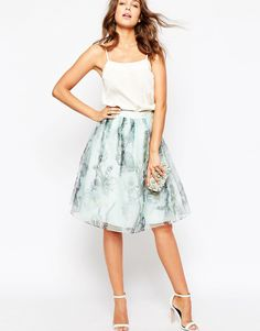 Ted+Baker+Roshini+Torchlit+Floral+Midi+Skirt