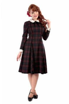 Lisa Hanna Check Print Doll Dress