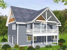 Garage Apartment Plan, kind of in love with this for a young family, woul make an excellent rental.
