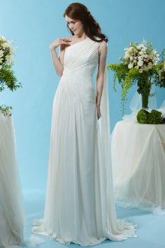 Style * SL073 * » Wedding Dresses » Silver Label 2015 Spring Collection » by Eden Bridals » Available Colours : Ivory ~ Shown one shoulder gown with Watteau Train