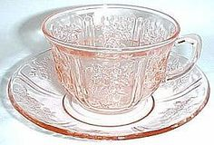 Pink Sharon - my depression glass pattern