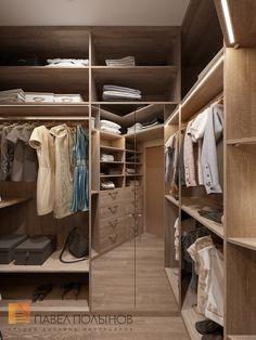 Фото: Интерьер гардеробной - Интерьер квартиры в стиле минимализм, ЖК «Классика», 130 кв.м.