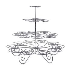 4-Tier Metal Wire Cupcake Stand - Large [CU23 Buy Cheap Cupcake Stand] : Wholesale Wedding Supplies, Discount Wedding Favors, Party Favors, and Bulk Event Supplies