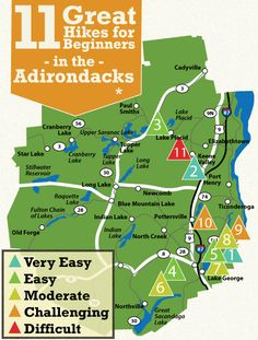 Some good (not too terribly difficult) hikes in the Southeastern Adirondacks