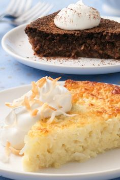 Enjoy a scrumptious coconut pie that's impossibly easy to make because there's no crust to roll!