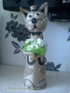 Поделка изделие Моделирование конструирование Мартовский кот  Шпагат фото 1