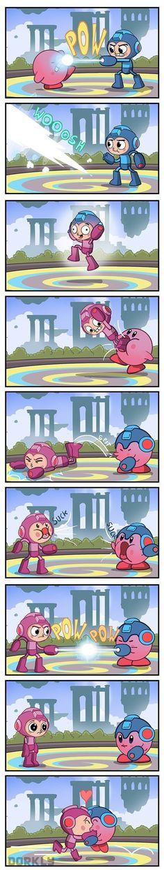 Mega Man vs. Kirby in Super Smash Bros.