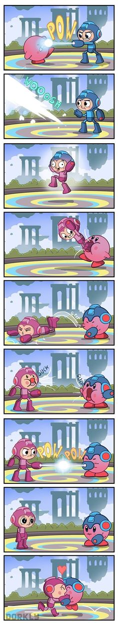 Mega Man vs. Kirby in Super Smash Bros.