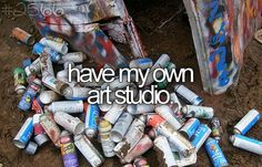 Have my own art studio for photography, drawing, stained glass, woodworking and pottery.