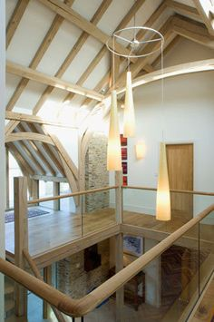 One of our beautiful oak creations. A modern and bespoke design installed in an English country cottage. - www.traditionaljoinery.co.uk Beautiful Home Designs, Beautiful Homes, English Country Cottages, Bespoke Design, Joinery, In The Heights, Ideal Home, My House, Stairs