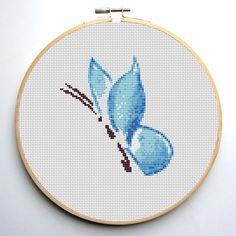 Cross stitch pattern pdf Blue Butterfly by CrossStitchForYou